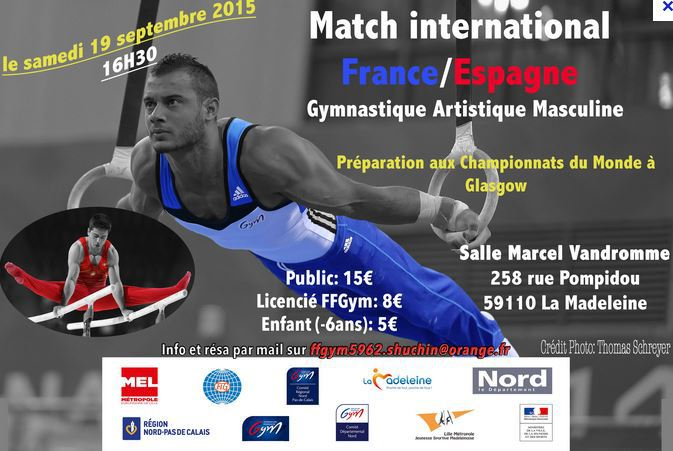 Match International France - Espagne - 19/09 - 16h00